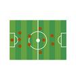 Football field 3-5-2 vector image