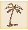 Grungy palm icon vector image