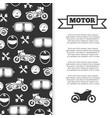 motorbike motorcycle motor banner background vector image