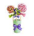 Multi-colored lollipops vector image