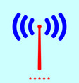 radio signal set it is color icon vector image