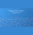 4th of july festive greeting card with text vector image
