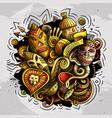 africa hand drawn cartoon doodles funny design vector image vector image