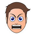 angry man avatar vector image vector image
