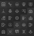 augmented reality outline concept icons vector image