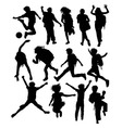 Back to School Silhouettes vector image vector image