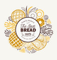 bakery hand drawn background vector image vector image