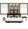 bedroom interior design vector image vector image