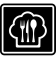 black cooking icon vector image