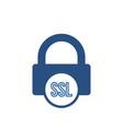 blocked lock office ssl icon vector image vector image