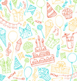 Bright seamless birthday pattern vector image vector image