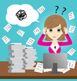 Busy business woman vector image vector image