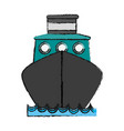cargo ship frontview icon image vector image vector image