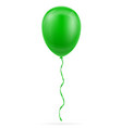 celebratory green balloon pumped helium with vector image vector image