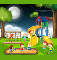 children in playground vector image vector image