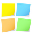 color memo stikers on white stock vector image vector image
