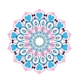 colorful intricate mandala with hearts icon vector image vector image
