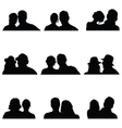 couple people silhouette vector image vector image