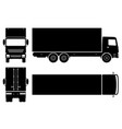 delivery truck black icons vector image vector image