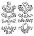 Design ornamental elements and monograms set
