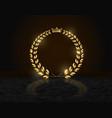 detailed round golden laurel wreath crown award
