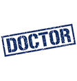 doctor stamp vector image vector image