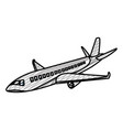 doodle travel airplane fight international vector image vector image