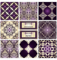 eight seamless patterns vector image vector image