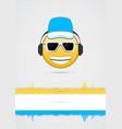 emoji icon poster vector image