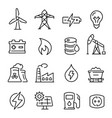 energy line art icon technology and electricity vector image vector image