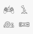 four flat game icons vector image vector image