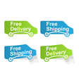 free delivery and free shipping labels vector image vector image