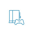 game console linear icon concept game console vector image vector image