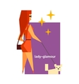 Glamorous Lady Abstract Figure vector image