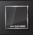 glass plate realistic vector image vector image