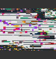 glitch noise texture isolated glitched vector image vector image