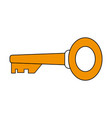 golden key icon vector image