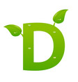 green eco letter d illiustration vector image