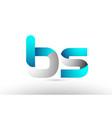 grey blue alphabet letter bs b s logo 3d design vector image vector image