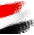 grunge background in colors of egyptian flag vector image