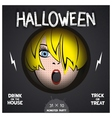 Halloween horror movie poster vector image vector image