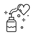 heart pills bottle cardiology isolated line icon vector image
