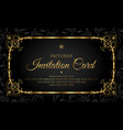 invitation card - black and gold style vector image vector image
