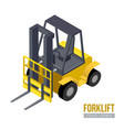 isometric forklift storage equipment vector image vector image