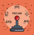 joystick gamepad icon video game controller symbol vector image