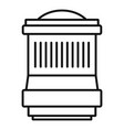 lens icon outline style vector image vector image