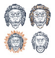 lion head decorative set door knocker vector image