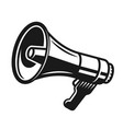 megaphone black silhouette sign on white vector image
