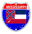 mississippi flag icons as interstate sign vector image vector image