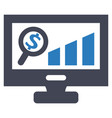 monitoring report growth sales icon vector image vector image